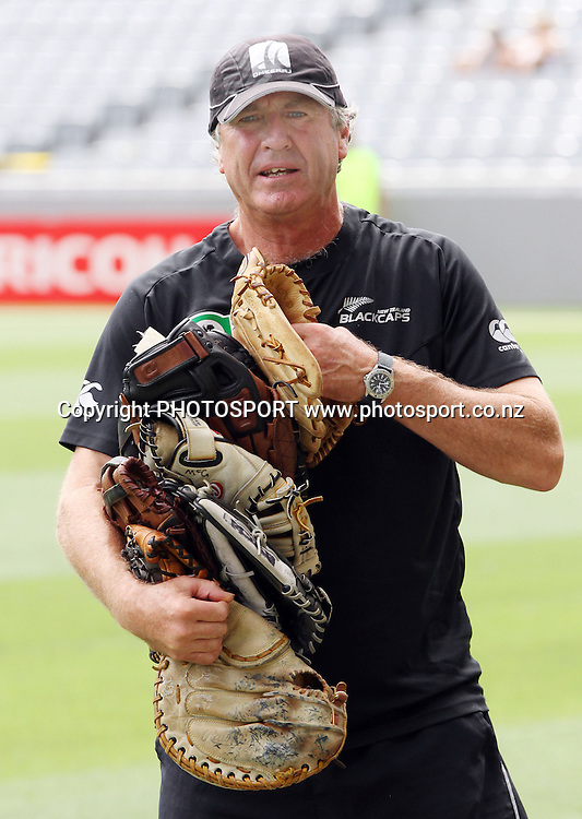 NZ Coach John Wright at the 6th ODI, Black Caps v Pakistan, One Day International Cricket. Eden Park, Auckland, New Zealand. Saturday 5 February 2011. Photo: Andrew Cornaga/photosport.co.nz
