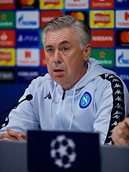LIVERPOOL, ENGLAND - Monday, December 10, 2018: SSC Napoli's head coach Carlo Ancelotti during a press conference ahead of the UEFA Champions League Group C match between Liverpool FC and SSC Napoli at Anfield. (Pic by David Rawcliffe/Propaganda)