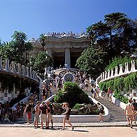 Parque Guel, Barcelona, España