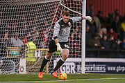 Accrington Stanley goalkeeper Jason Mooney during the Sky Bet League 2 match between York City and Accrington Stanley at Bootham Crescent, York, England on 28 November 2015. Photo by Simon Davies.