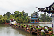 Black Dragon Pool in Lijiang, Yunnan Province, China