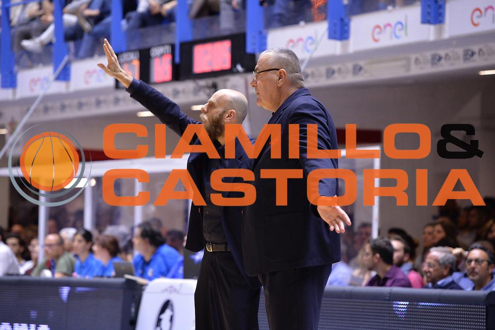 Repesa Jasmin, Cancellieri Massimo<br /> Enel Brindisi - EA7 Emporio Armani Milano<br /> BASKET Serie A 2016-2017<br /> Brindisi 15/04/2017<br /> FOTO CIAMILLO / M.Longo