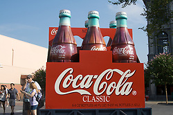 A giant six pack of Coca-Cola is seen at Disney's MGM Studios near Orlando Florida,