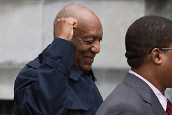 April 25, 2018 - Norristown, PA, United States - Actor Bill Cosby arrives for his retrial on sexual assault charges, where the jury is expected to begin deliberations after being charged by Judge Steven T O'Neill. (Credit Image: © Michael Candelori/Pacific Press via ZUMA Wire)