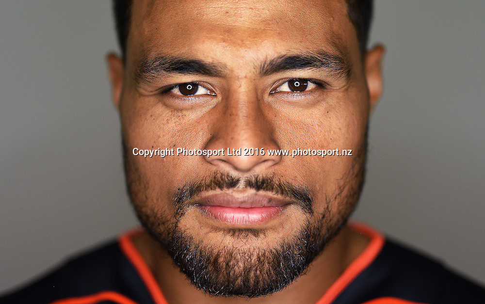 Toafofoa Sipley.<br /> Warriors media day and portrait session, Wednesday 13 January 2016. Copyright Photo: Andrew Cornaga / www.photosport.nz
