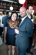 PHILANA WOO; MAGNUS RENFREW, Brunch to celebrate the launch of Art HK 11. Miss Yip Chinese Cafe. Meridian ave,  Miami Beach. 3 December 2010. -DO NOT ARCHIVE-© Copyright Photograph by Dafydd Jones. 248 Clapham Rd. London SW9 0PZ. Tel 0207 820 0771. www.dafjones.com.