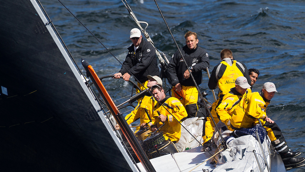 SOUTH AFRICA. 11th December 2011. Volvo Ocean Race. Start of Leg 2, Cape Town to Abu Dhabi. Abu Dhabi Ocean Racing.