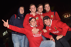 June 7, 2017 - Auckland, Auckland, New Zealand - British and Irish Lions fans support their team ahead  match between the Blues and the British and Irish Lions at Eden Park, Auckland, New Zealand on June 7, 2017. (Credit Image: © Shirley Kwok/Pacific Press via ZUMA Wire)