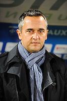 Jean Luc VANNUCHI - 31.10.2014 - Auxerre / Brest - 13eme journee Ligue 2<br />Photo : Jean Paul Thomas / Icon Sport