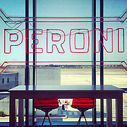Alghero 2015: Peroni bar at the  airport.