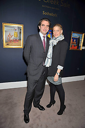 PRINCE NIKOLAOS OF GREECE and TATIANNA BLAHNIK at a party to celebrate the publication of Elena Makri Liberis's book 'Every Month, Same day' held at Sotheby's, 34-35 New Bond Street, London on 5th May 2009.