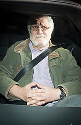 © London News Pictures. 15/11/2012. Mentmore, UK .  British radio presenter Dave Lee Travis arriving back at his home in Mentmorein near Leighton Buzzard, Buckinghamshire, UK after he was arrested as part of an investigation into allegations of sexual abuse by broadcaster Jimmy Savile. Photo credit: Ben Cawthra/LNP