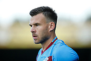 Andy Butler Of Scunthorpe United during the Pre-Season Friendly match between Scunthorpe United and Leicester City at Glanford Park, Scunthorpe, England on 16 July 2019.