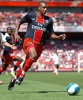 Photo: Tony Oudot.<br /> Paris Saint-Germain v Valencia. The Emirates Cup. 29/07/2007.<br /> David Ngog of Paris St Germain