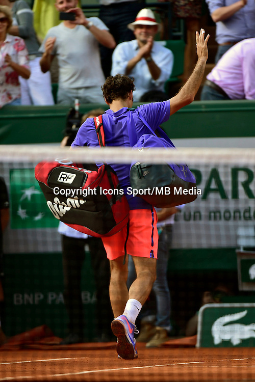 Roger FEDERER - 02.06.2015 - Jour 10 - Roland Garros 2015<br />Photo : David Winter / Icon Sport