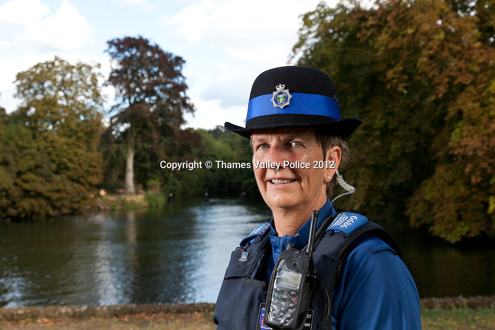 Portrait of PCSO Liz Davidson who has been named Thames Valley Police PCSO of the year in the 2012 Community Policing Awards, which are voted for by members of the public. Cookham, UNITED KINGDOM. September 19 2012. <br /> Photo Credit: MDOC/Thames Valley Police<br /> &copy; Thames Valley Police 2012. All Rights Reserved. See instructions.