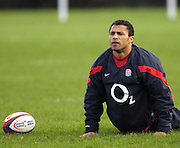 Bath, GREAT BRITAIN, Jason ROBINSON, stretching his back, during the the England Rugby training session at Bath University Sports Complex, ENGLAND  [Photo, Peter Spurrier/Intersport-images].....