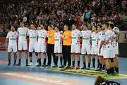 Team of Belarus during anthems before the EHF 2018 Men's European Championship, 2nd Round, Handball match between Croatia and Belarus on January 18, 2018 at the Arena in Zagreb, Croatia - Photo Laurent Lairys / ProSportsImages / DPPI
