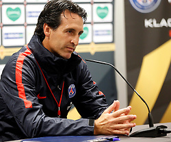05.08.2016, Woerthersee Stadion, Klagenfurt, AUT, Trophee des Champions, Paris St. Germain vs Olympique Lyon, Pressekonferenz, im Bild Cheftrainer Unai Emery (Paris St. Germain). // during Press Conference before the French Supercup Match between Paris St. Germain and Olympique Lyon at the Woerthersee Stadion in Klagenfurt, Austria on 2016/08/05. EXPA Pictures © 2016, PhotoCredit: EXPA/ Wolfgang Jannach