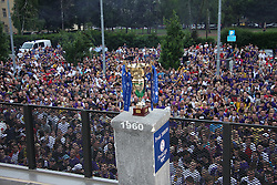 Cup at ceremony after last football match of PrvaLiga Telekom Slovenije between NK Maribor and NK Interblock, when Maribor became a Slovenian National Champion, on May 23, 2009, in Ljudski vrt, Maribor. (Photo by Marjan Kelner/Sportida)
