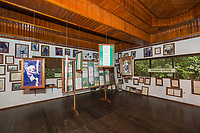 Interior of the information center at Camp Leakey, in Tanjung Puting National Park, Borneo, Indonesia.