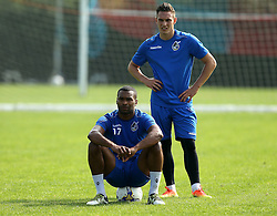 Jermaine Easter and Connor Roberts of Bristol Rovers takes part in training - Mandatory by-line: Robbie Stephenson/JMP - 15/09/2016 - FOOTBALL - The Lawns Training Ground - Bristol, England - Bristol Rovers Training