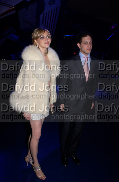 Sophie Dahl and Lord Frederick Windsor, , Party to celebrate 100 years of the Santos  de Cartier watch. Le Bourget airport. Paris. 7 April 2004. ONE TIME USE ONLY - DO NOT ARCHIVE  © Copyright Photograph by Dafydd Jones 66 Stockwell Park Rd. London SW9 0DA Tel 020 7733 0108 www.dafjones.com
