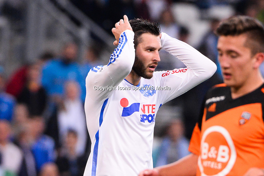 Deception Andre Pierre GIGNAC - 24.04.2015 - Marseille / Lorient - 34eme journee de Ligue 1<br />
