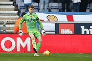 Leeds United goalkeeper Bailey Peacock-Farrell (1) during the EFL Sky Bet Championship match between Wigan Athletic and Leeds United at the DW Stadium, Wigan, England on 4 November 2018.