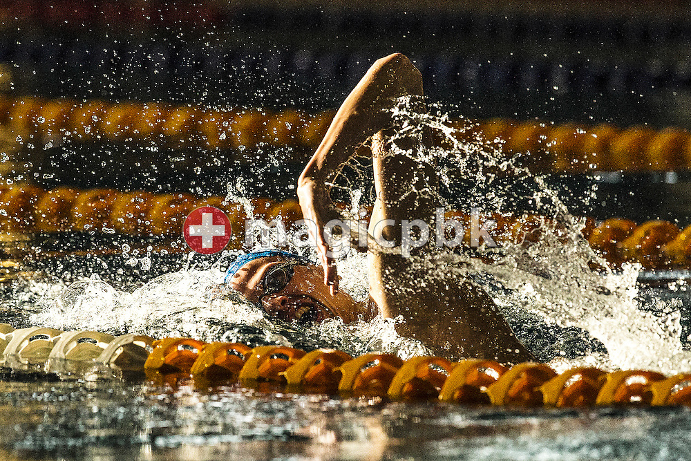LYN's Nils LIESS of Switzerland competes in the men's 400m Freestyle Final during the Swiss Swimming Championships at the Hallenbad Oerlikon in Zuerich, Switzerland, Thursday, March 27, 2014. (Photo by Patrick B. Kraemer / MAGICPBK)