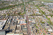 Nederland, Noord-Holland, Hoofddorp, 09-04-2014; centrale as van Hoofddorp, kruising Kruisweg met Hoofdvaart. Historisch centrum van de stad, voormalig dorp<br /> Historic center of the city, former village.<br /> luchtfoto (toeslag op standard tarieven);<br /> aerial photo (additional fee required);<br /> copyright foto/photo Siebe Swart