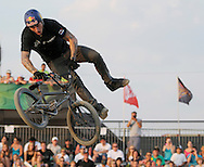 Corey Bohan competes at the AST Dew Tour Right Guard Open BMX Dirt Finals Friday, July 18, 2008 in Cleveland, OH.