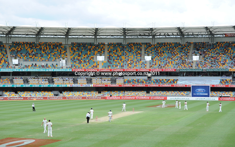 A general view of the Gabba on Day 4 of the first cricket test between Australia and New Zealand Black Caps at the Gabba in Brisbane, Sunday 4 December 2011. Photo: Andrew Cornaga/Photosport.co.nz
