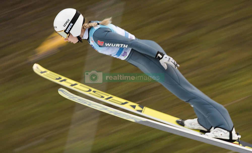 February 8, 2019 - Ljubno, Savinjska, Slovenia - Svenja Wuerth of Germany on first competition day of the FIS Ski Jumping World Cup Ladies Ljubno on February 8, 2019 in Ljubno, Slovenia. (Credit Image: © Rok Rakun/Pacific Press via ZUMA Wire)