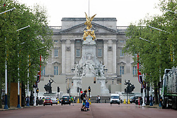 21 April 2011. London, England..Looking along the Mall to Buckingham Palace in the run up to Catherine Middleton's marriage to Prince William. The Royal wedding procession will travel to and from the Palace along this route..Photo; Charlie Varley.