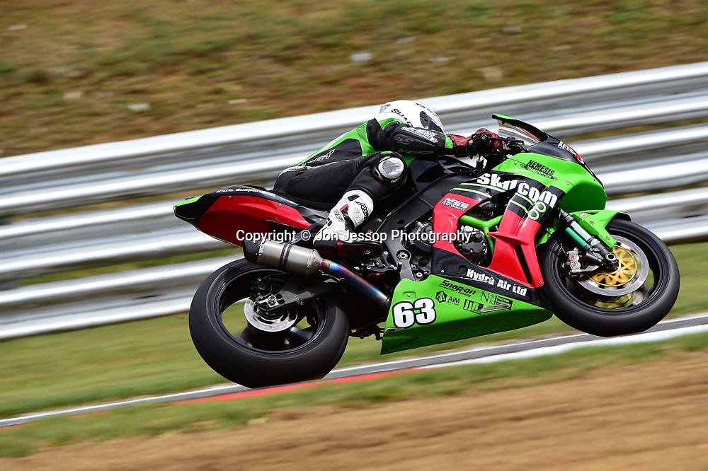 #63 James White Reading Team Afterdark Kawasaki Pirelli National Superstock 1000 Championship