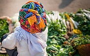 Vegetable seller with colorful turban (India)