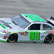 Dale Earnhartdt Jr #88 rounds turn three Friday May. 13, 2011 during NASCAR Sprint Cup Series practice race at Dover International Speedway in Dover Delaware...