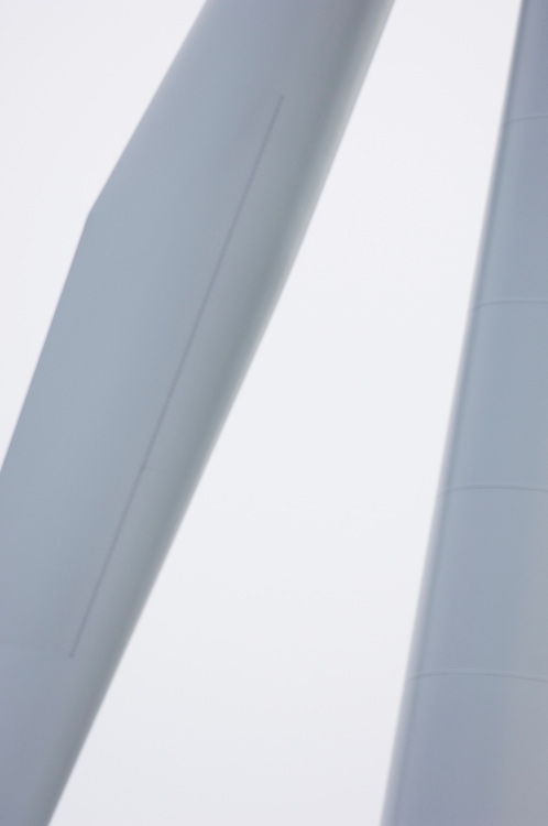 wind turbine blade and tower, Smøla, Norway