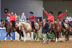 Prizegiving Team Competition Reining second team Belgium Boogaerts Jan - Gumpy Grumpy BB, Poels Ann - Whizdom Shines, Baeck Cira - Peek a Boom, Fonck Bernard - BA Reckless Chick<br /> Alltech FEI World Equestrian Games <br /> Lexington - Kentucky 2010<br /> © Dirk Caremans