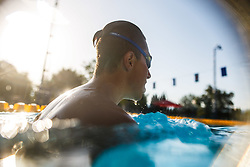 Photo session with Patrik Jagodic disabled swimmer during his practice in swimming pool, Radovljica 31th of July, 2017, Slovenia. Photo by Grega Valancic / Sportida