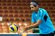 Katowice, Poland - 2017 September 02: Athlete Felix Badzo from SO Czech Republic catches the ball while SO Finland versus SO Czech Republic during European Unified Volleyball Tournament 2017 at Spodek Hall on September 02, 2017 in Katowice, Poland.<br /> <br /> Adam Nurkiewicz declares that he has no rights to the image of people at the photographs of his authorship.<br /> <br /> Picture also available in RAW (NEF) or TIFF format on special request.<br /> <br /> Any editorial, commercial or promotional use requires written permission from the author of image.<br /> <br /> Image can be used in the press when the method of use and the signature does not hurt people on the picture.<br /> <br /> Mandatory credit:<br /> Photo by © Adam Nurkiewicz / Mediasport