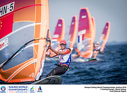 Aarhus, Denmark is hosting the 2018 Hempel Sailing World Championships from 30 July to 12 August 2018. More than 1,400 sailors from 85 nations are racing across ten Olympic sailing disciplines as well as Men's and Women's Kiteboarding. <br /> 40% of Tokyo 2020 Olympic Sailing Competition places will be awarded in Aarhus as well as 12 World Championship medals. ©JESUS RENEDO/SAILING ENERGY/AARHUS 2018<br /> 07 August, 2018.
