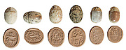 Canaanite Scarab Seals 2nd millennium BC