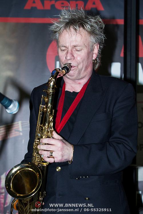 NLD/Amsterdam/201400413 - Aankondiging Jazzfestival Amsterdam Arena met optreden Jules Deelder, Boris van de Lek