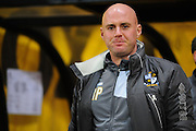 Port Vale boss Rob Page during the Sky Bet League 1 match between Port Vale and Southend United at Vale Park, Burslem, England on 26 February 2016. Photo by Mike Sheridan.