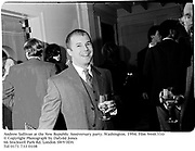 Andrew Sullivan at the New Republic Anniversary party. Washington. 1994. Film 94487f10<br />