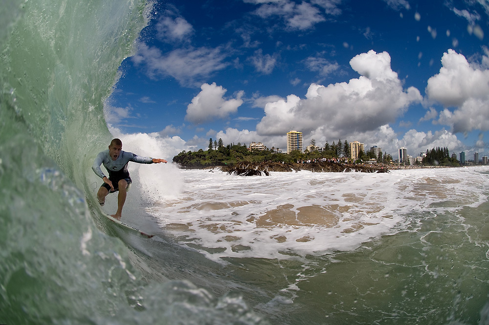 30 April 2011:Mick Fanning surfs at Snapper Rocks on the Gold Coast. Photo by Matt Roberts