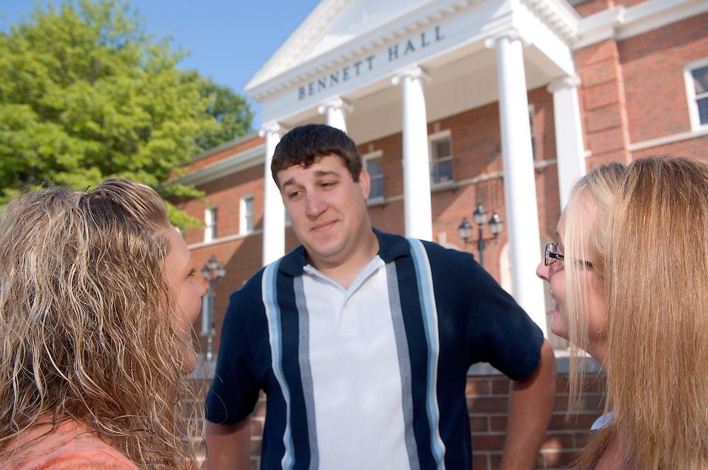 18322OU Chillicothe Campus ..Amber Coon(orange)..Rebekah Halterman(stripes)..Tristan Chrisman