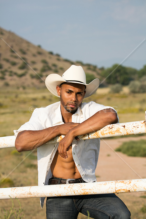 African American Cowboy on a ranch